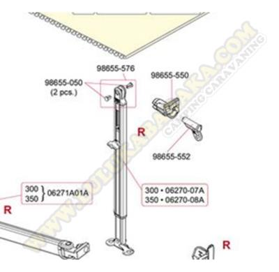 98655-550. Kit enganche pata dcha. F45S