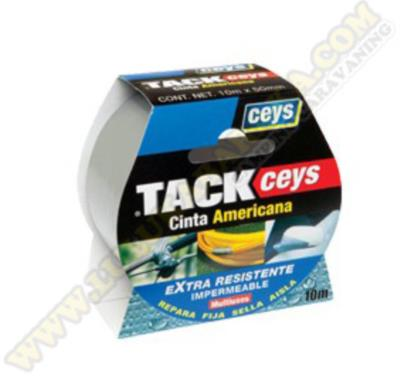 Tackceys cinta americana plata rollo 10mx50mm