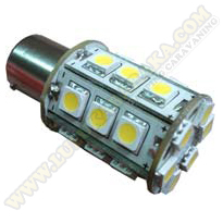 Led BAY15D 24SMD WW