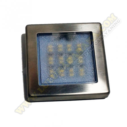 Panel Led Sup. cuadrado Slim 12V Inox