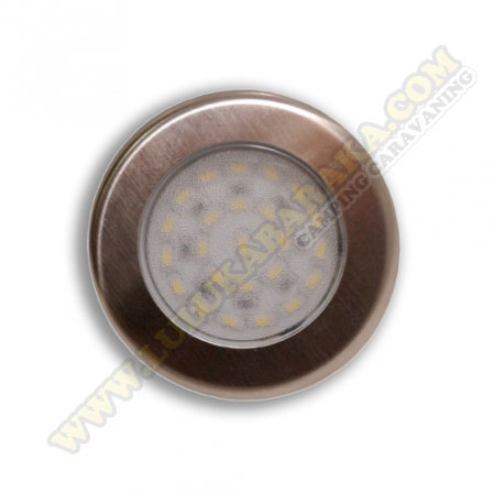Panel Led Sup. redondo Slim 12V Inox
